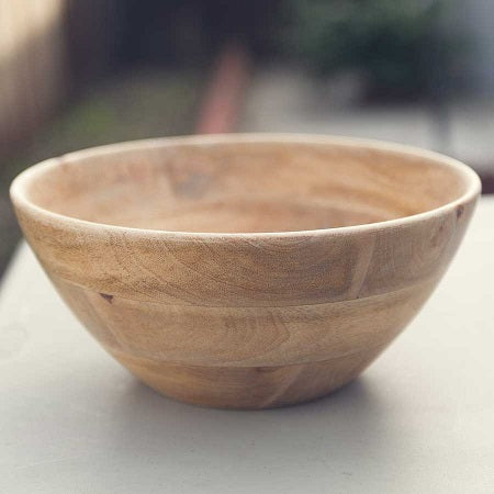 Raw Mango Wood Salad Bowl - Large