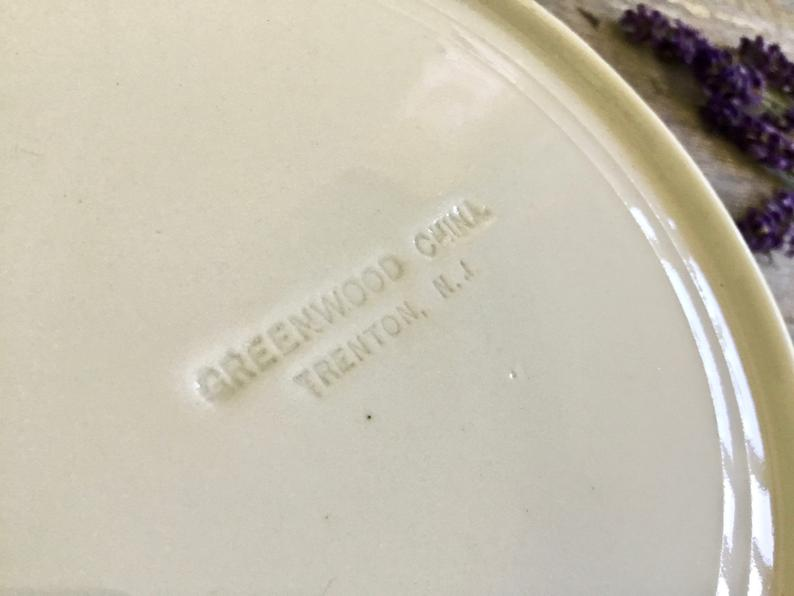 Vintage Ironstone Greenwood China Soup Plates - Set 6