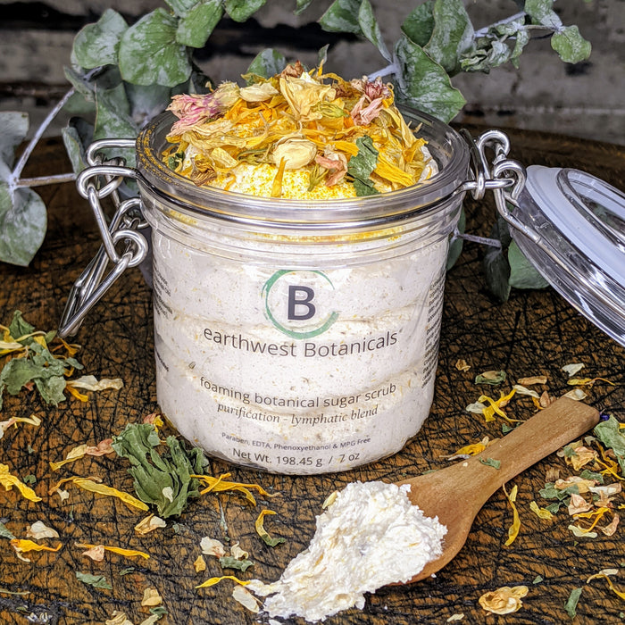 Whipped Botanical Sugar Scrub - Purification Lymphatic Blend