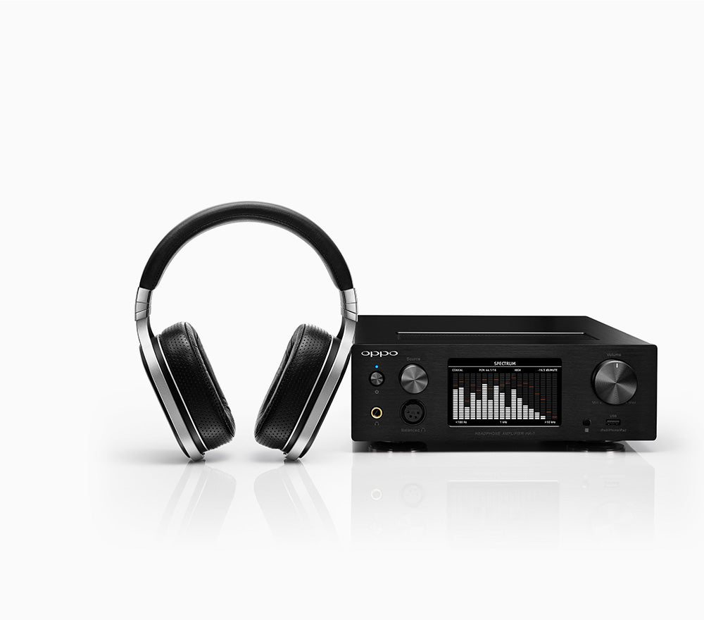 OPPO Digital Australia HA-1 Headphone Amplifier with OPPO PM-1 - Front View