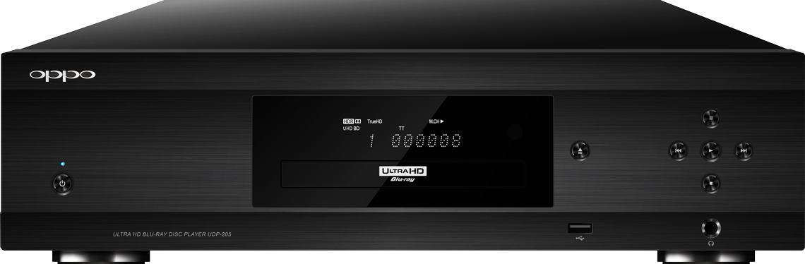 OPPO Digital Australia UDP-205 4K UHD Blu-ray Player - Front View