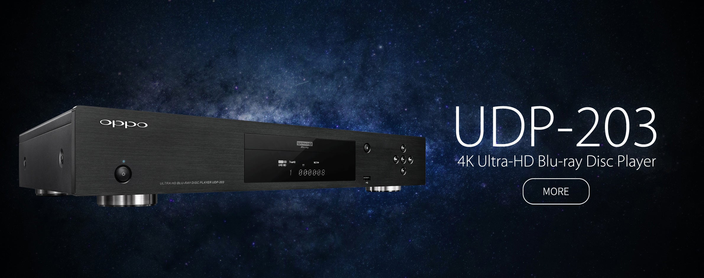 OPPO Digital Australia UDP-203 4K UHD Blu-ray Player Banner