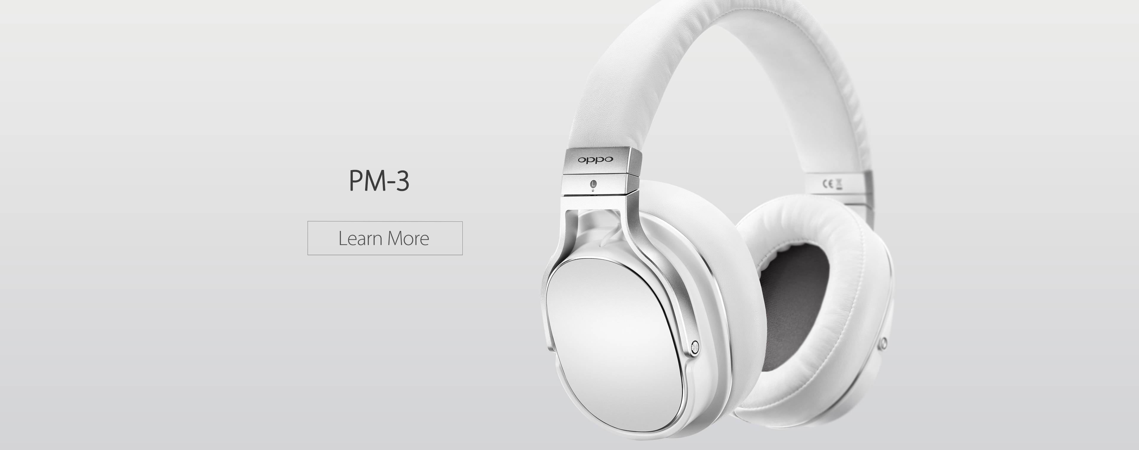OPPO Digital Australia PM-3 Planar Magnetic Headphones White Banner