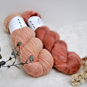 Hibernation House socks kit - Peony + Terracotta