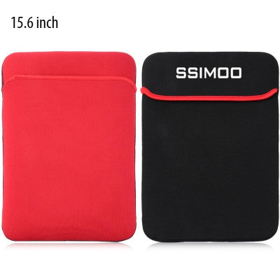 SSIMOO Doppelseitiges Schaumstoff Sleeve für Macbook / Surface / Notebook 15.6 Zoll