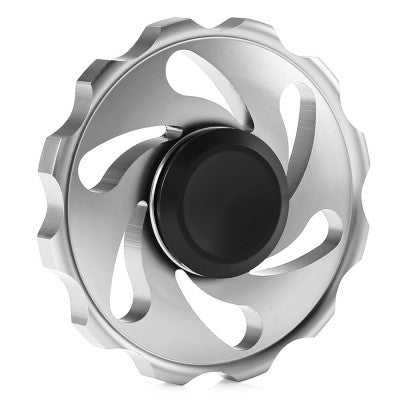Fidget Spinner Fire Wheel aus Aluminium in grau
