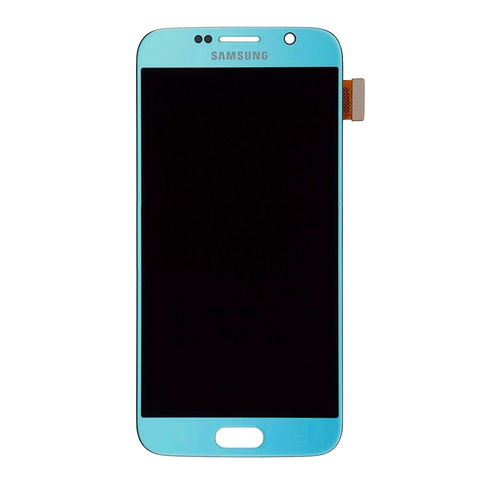Samsung G920F Galaxy S6 LCD Digitizer Display hellblau