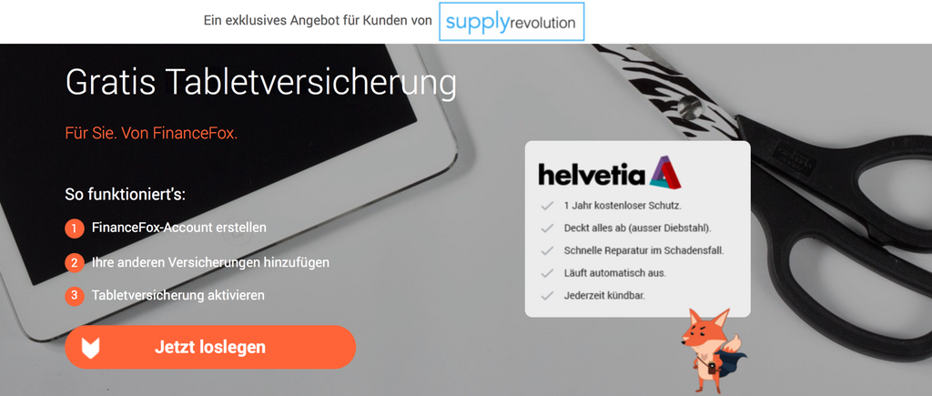 Tablet Versicherung - von SupplyRevolution