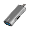 Energea AluPort C, Superspeed Aluminium USB C zu USB 3.0 & USB C Adapter - von SupplyRevolution