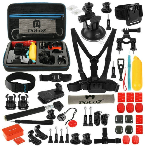 Puluz 53 teiliges GoPro Accessoire Kit - Adventure für GoPro HERO5 /4 /3+ /3 /2 /1 - von SupplyRevolution