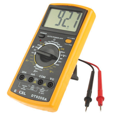 Excel DT9205A Digital Multimeter mit LCD - von SupplyRevolution