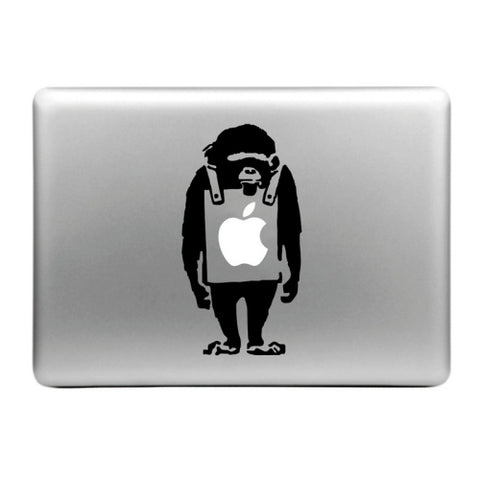 MacBook Apfel Sticker Tattoo Affe Bauch