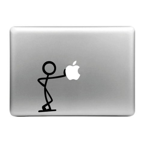 MacBook Apfel Sticker Tattoo Strichmännchen