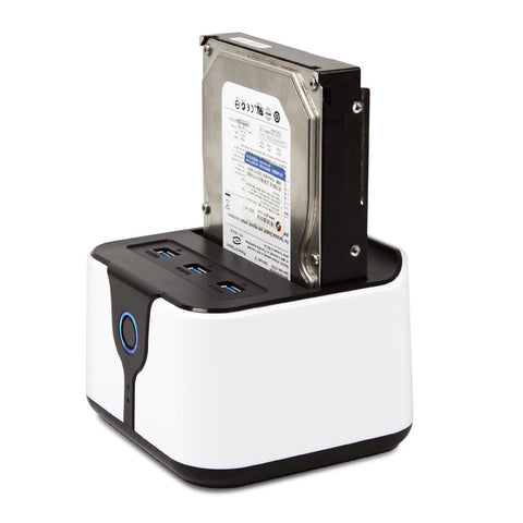 "Blueendless BS-HD03HUB USB 3.0 zu SATA 2.5""/3.5"" HDD/SSD Docking Station weiss"