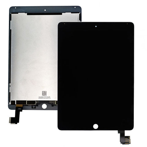 iPad Air 2/6G LCD Digitizer Display schwarz (SmartCover-Sensor umlöten)