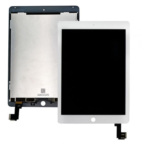 iPad Air 2 LCD Digitizer Display (SmartCover-Sensor umlöten) weiss
