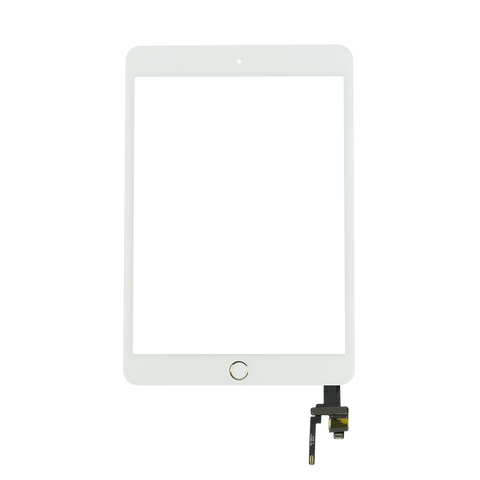 iPad mini 3G Touchscreen Digitizer Glas weiss/gold