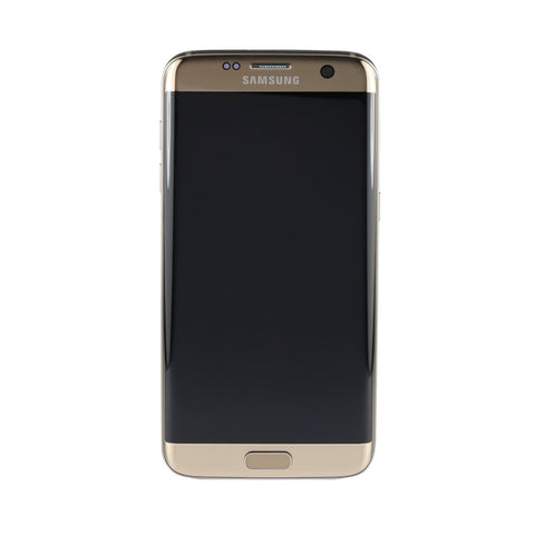 Samsung G935F Galaxy S7 Edge LCD Digitizer Display gold (mit Rahmen)