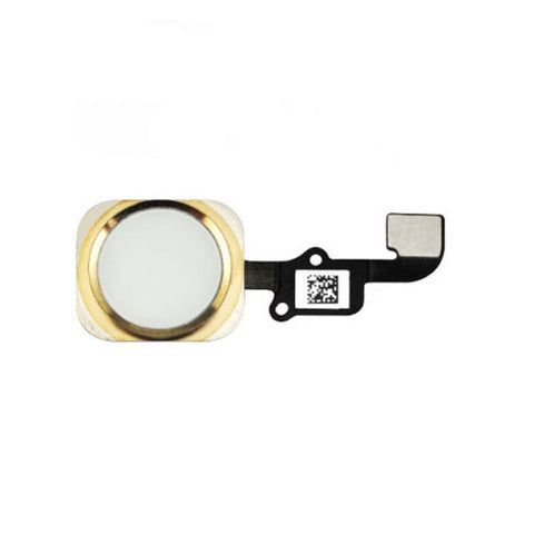iPhone 6/6 PLUS Home Button Flex Kabel weiss/gold