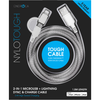 Energea NyloTough 2-in-1 microUSB + Lightning MFI Lade- & Datenkabel, weiss 1.5m