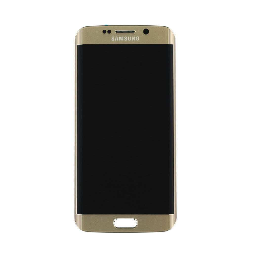 Samsung G925F Galaxy S6 Edge LCD Digitizer Display gold (mit Rahmen)