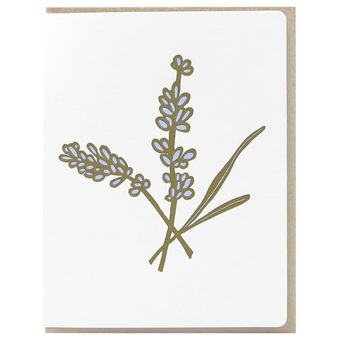 GREETING CARD - LAVENDER