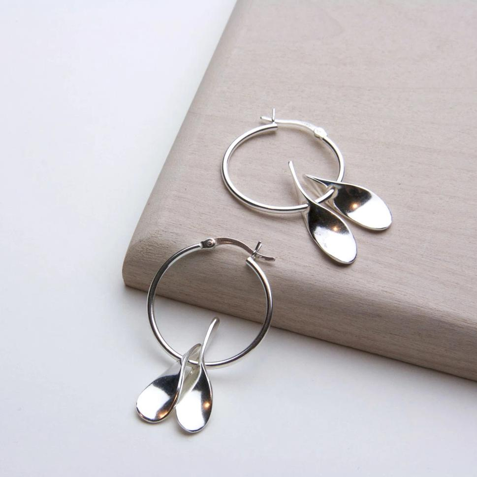 DOUBLE DROP HOOP EARRING - JewellerAJGreen