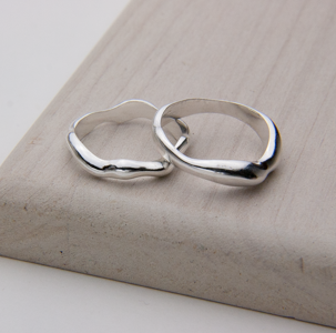 RIPPLE BAND & RING - Stack Them UP! - JewellerAJGreen