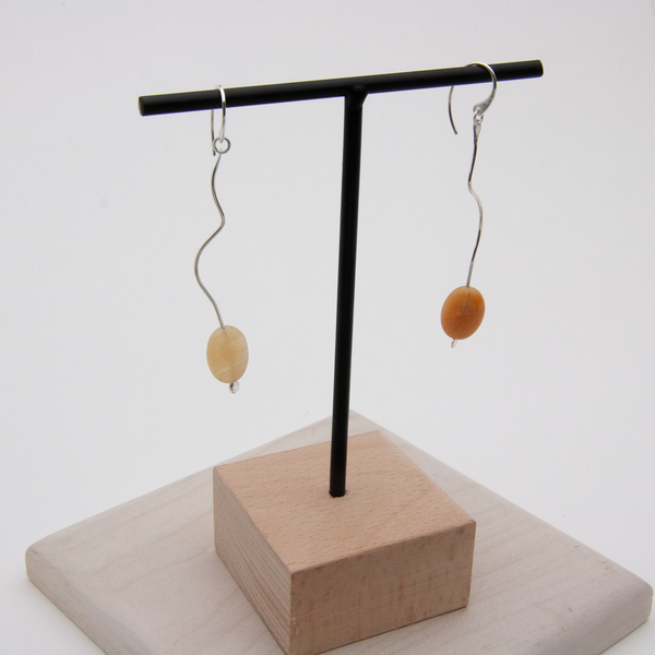 SINUATE PENDANT EARRINGS - JewellerAJGreen