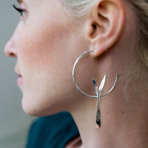 TWINNING HOOP EARRINGS - JewellerAJGreen