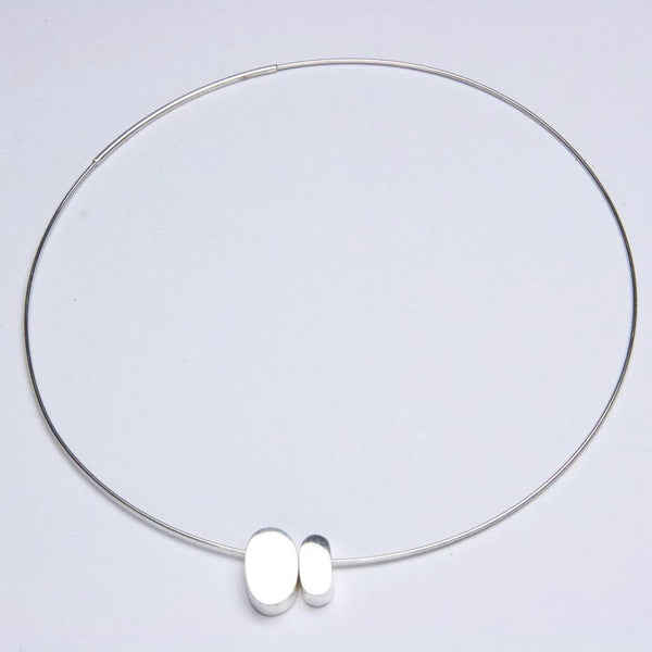 TWO PEBBLES NECKLACE - JewellerAJGreen
