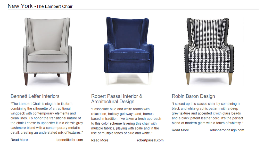 Design Insider: The Robert Allen Custom Made Easy Designer Series Launch