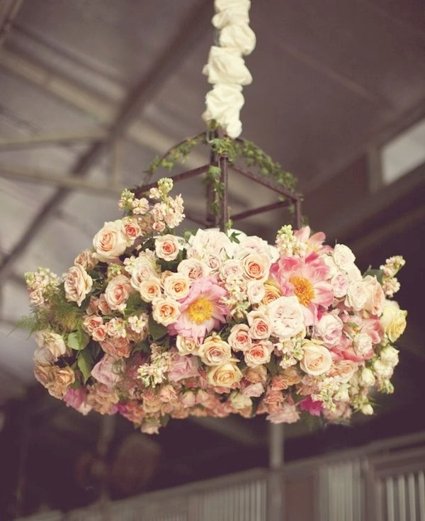 Tuesday's Trends: Chic Floral Chandeliers