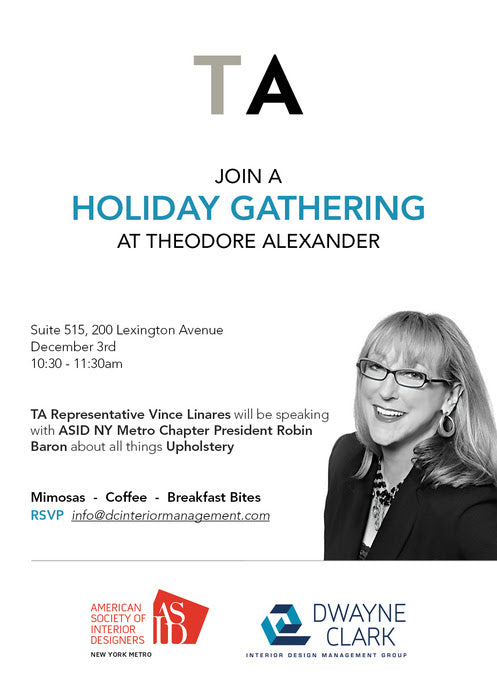 Fab Event: Holiday Gathering at Theodore Alexander