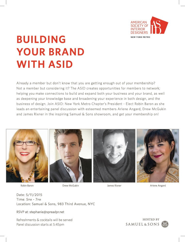 "ASID Event - ""Building Your Brand with ASID"""