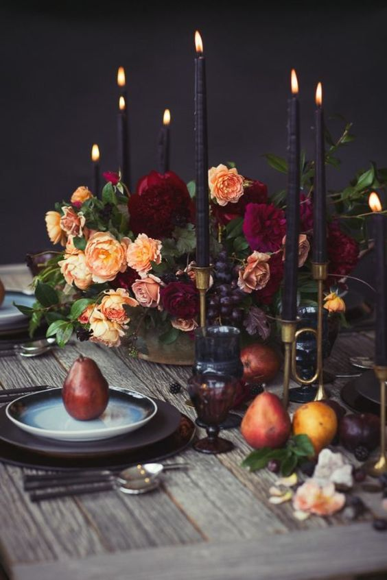Wedding_Tablescapes_Black_Candles_Halloween
