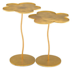 Gold flower shaped tables