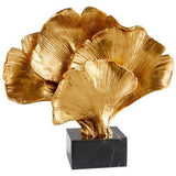 Gold Gingko Sculpture