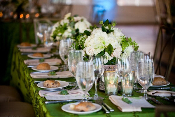 Emerald green themed New Years party