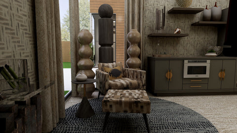View of Zoom Room in the Earthy Luxe color palette