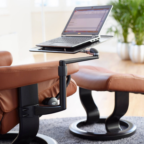 Stressless Attachable Computer Table On Arm Rest