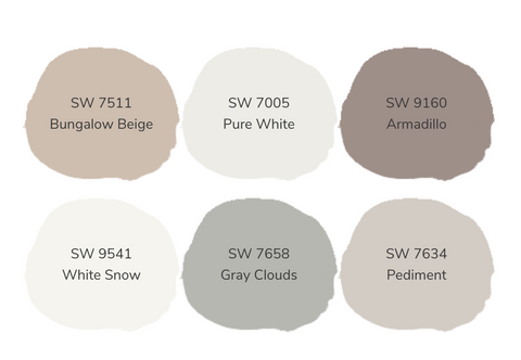 Warm Taupe Color Ways Palette
