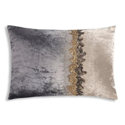 Crushed velvet and metallic sparkle accent pillow