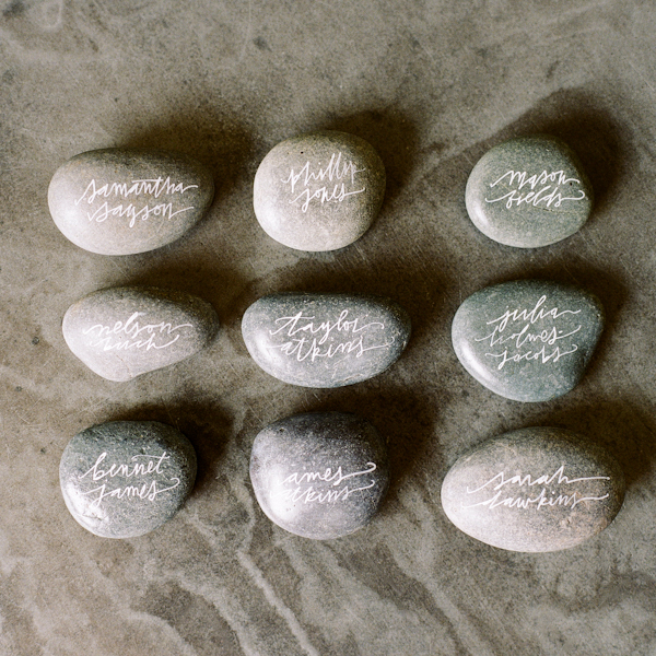 Calligraphy Rock Place Holders