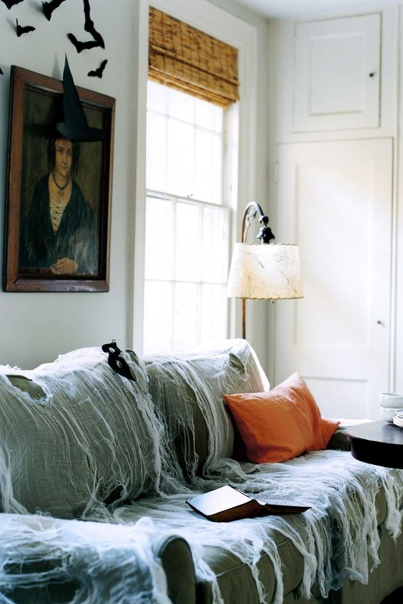 Cheese_Cloth_Draped_Over_Furniture_Halloween