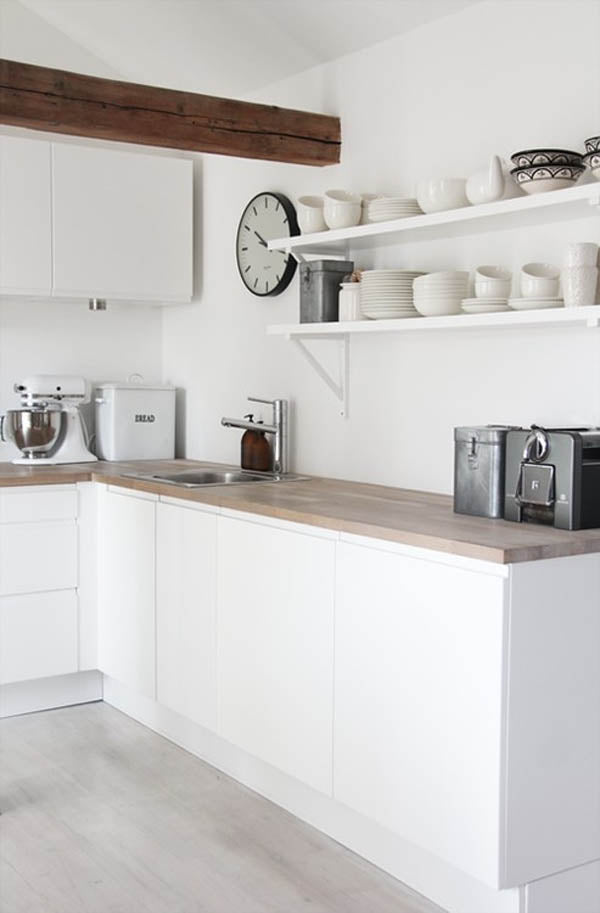 Embrace open shelving for storage
