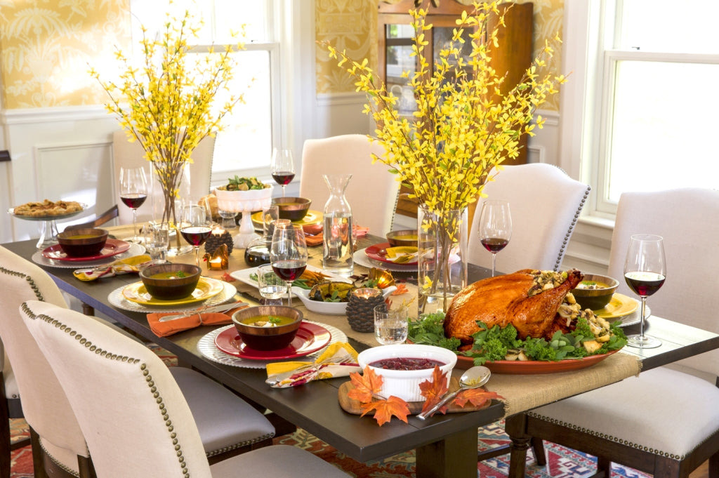 Thanksgiving and Fall vignettes and tablescapes - Robin Baron
