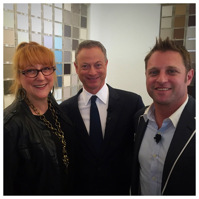With Gary Sinise (middle) & George Oliphant