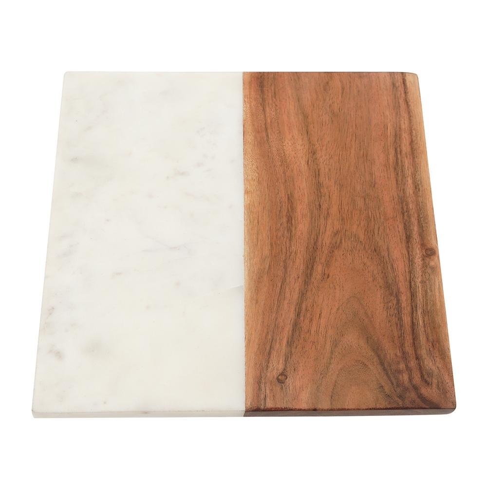 Marseilles Marble and Wood Marble Stand, top view