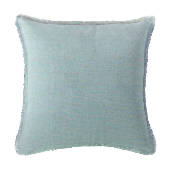 Portofino Crossdye Coastal Blue Linen Pillow